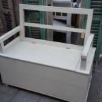 klepbank klein wit open rug 104x51x93