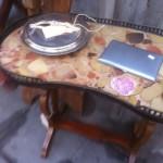 klein tafeltjes met marmer