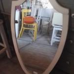 ovale spiegel met ornament 98x57