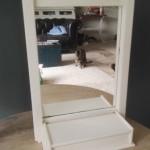 Hangkastje met spiegel 26x11x42,5