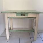 Keukentafel, uitschuifbare lade en plank, 99,5 x 65 x 81