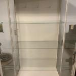 Apothekerskast 94 x 45.5 x 178 3 glazen platen, helemaal glas rondom