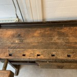 Werkbank 1 lade hout 215 x 94 x 85  60 breed middenstuk